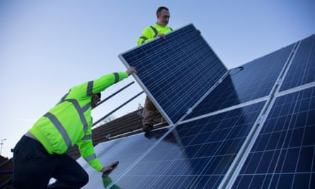 Jobs in renewable energy have fallen by a third in recent years
