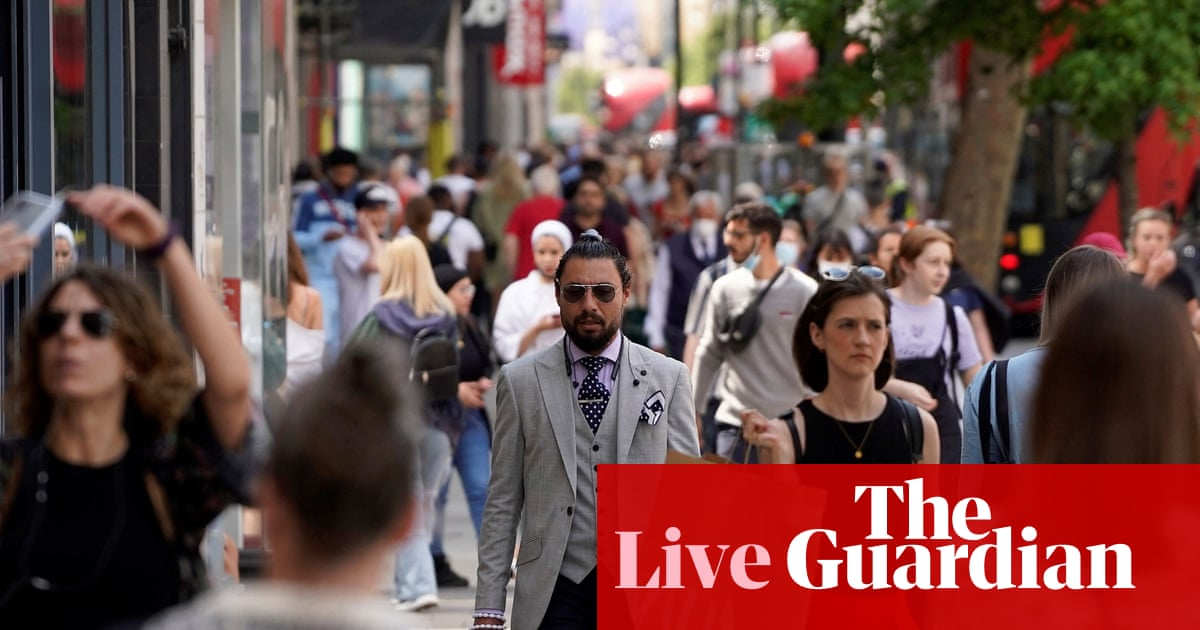 UK inflation jumps to 2.1%, above Bank of England target, as fuel and clothes prices rise – business live