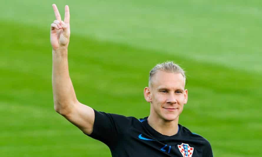 Unpredictable: Domagoj Vida of Croatia during a training session ahead of the World Cup finals.