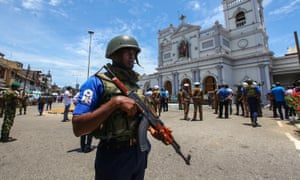 Security forces in Colombo, Sri Lanka