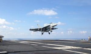 An F/A-18 fighter jet.
