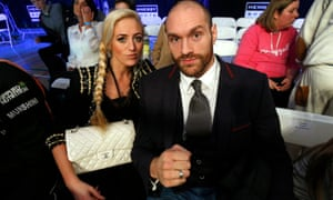Tyson Fury with his wife Paris.