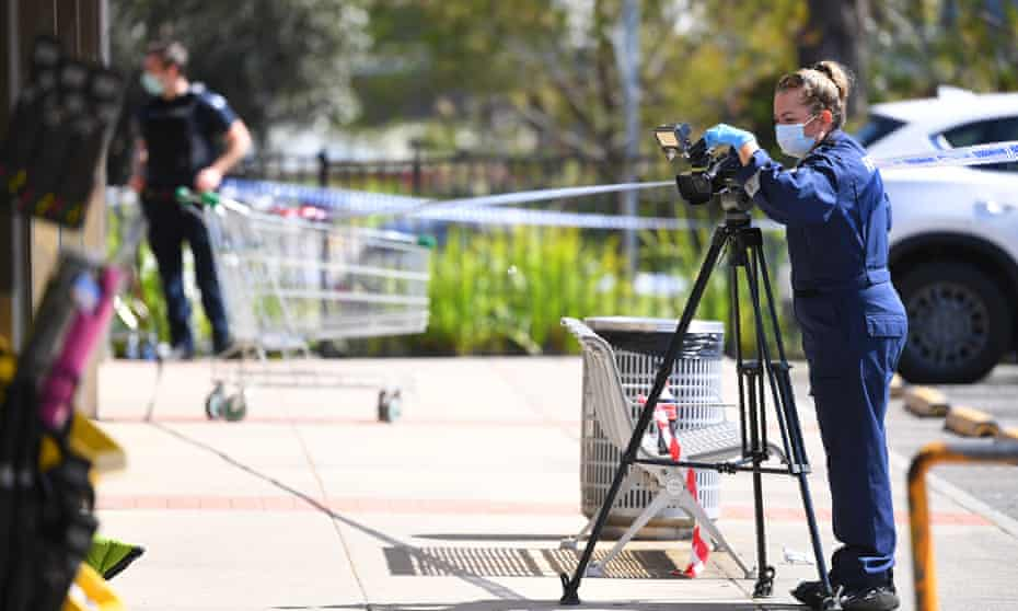 Forensic Police are seen at a crime scene in Lilydale, Melbourne, Tuesday, September 15, 2020.