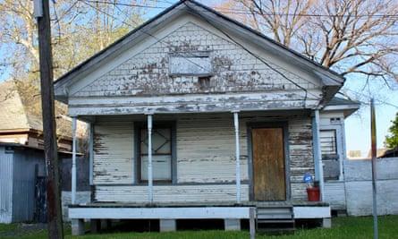 Houston wooden shotgun house
