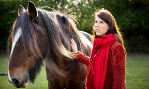 Talking to the animals: Eva Meijer with Fagan at Faith animal rescue centre in Norfolk.