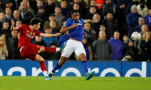 Curtis Jones scored the decisive goal in the Merseyside derby, bending a peach of a shot past Jordan Pickford into the top corner.