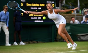 Julia Goerges stretches for a forehand during her win over Elena-Gabriela Ruse.