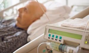 Man in palliative care unit