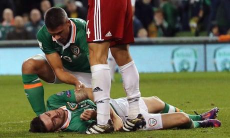 a3110c0dbe1 Republic of Ireland win ugly but Robbie Brady injury mars result against  Georgia