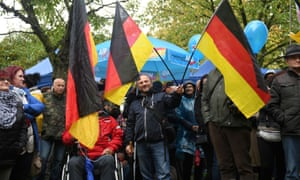 Supporters attend an election rally of AfD candidate Björn Höcke ahead of the Thuringia state elections to be held on Sunday.