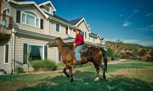 'I thought America was going to collapse unless I did something': William Johnson, chairman of the American Freedom Party, at home on his ranch  near Pasadena.