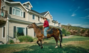 William Johnson, chairman of the American Freedom party, at home on his ranch near Pasadena