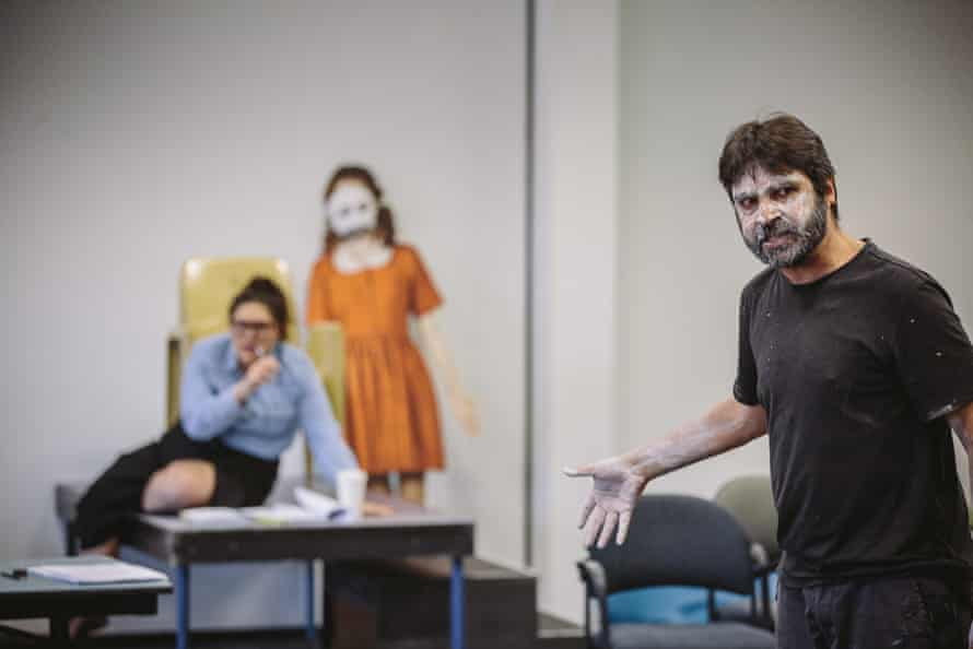 Nakkiah Lui and Colin Henry in rehearsals of An Octoroon.