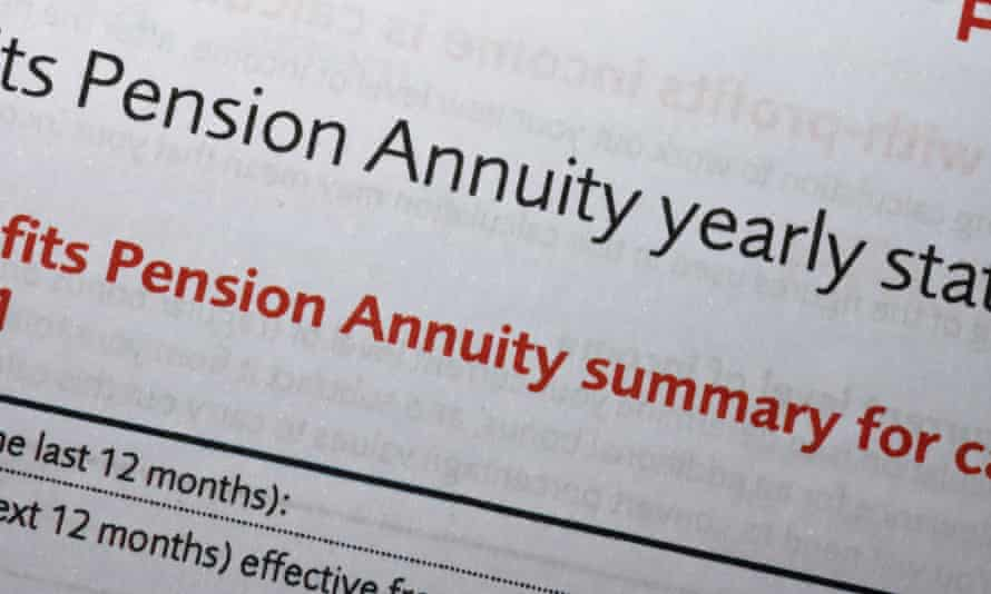 Pension annuity yearly statement letter