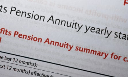 Statement of fact … year on year annuity returns have fallen.