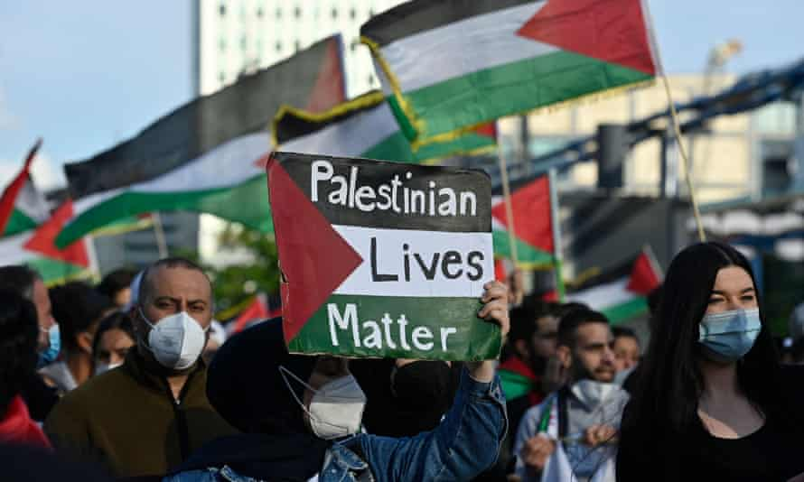 A pro-Palestinian demonstration in Berlin, Germany, 19 May.