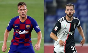 Barcelona's Arthur and Miralem Pjanic of Juventus are set to swap clubs