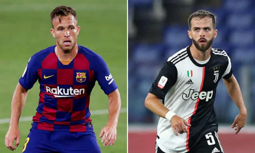 Barcelona's Arthur and Miralem Pjanic of Juventus are to swap clubs