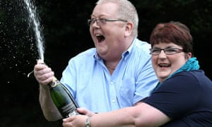 Colin Weir with his ex-wife, Chris, after winning the EuroMillions jackpot.
