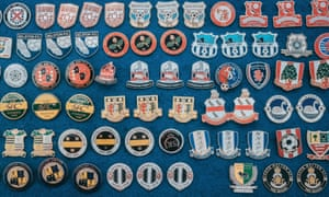 A selection of Terry's pin badges.