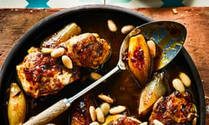 Djaj bil assal – chicken with caramelised baby onions and honey.