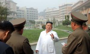 Kim Jong-un inspects a hot springs facility in North Korea
