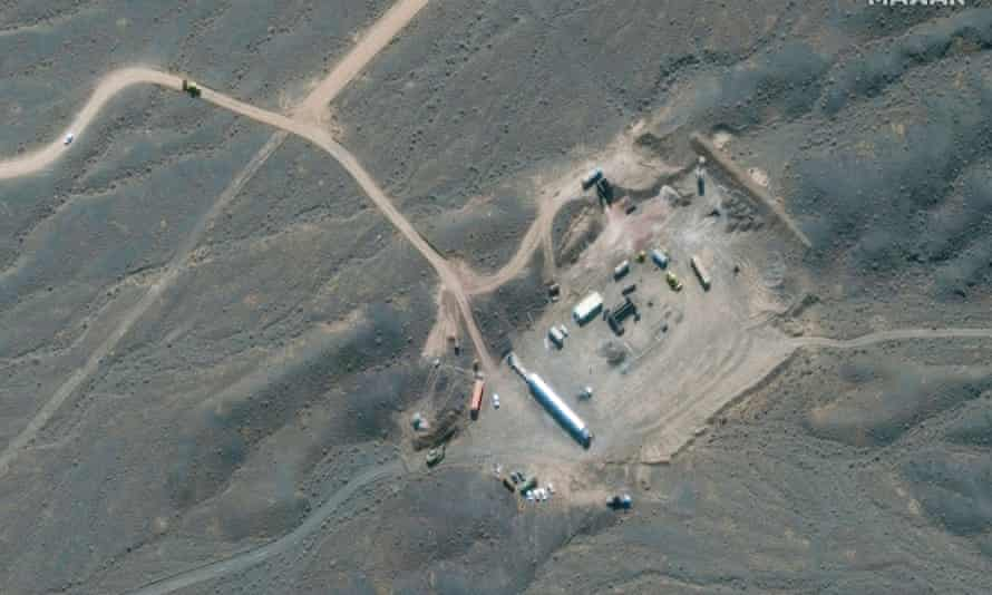A satellite image shows Iran's Natanz Nuclear Facility in Isfahan, Iran. Tehran has threatened to resume enrichment unless sanctions are lifted.