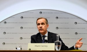 The Bank of England Governor Mark Carney speaks at a press conference