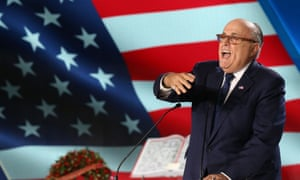 Rudy Giuliani speaks at the National Council of Resistance of Iran event in Paris.