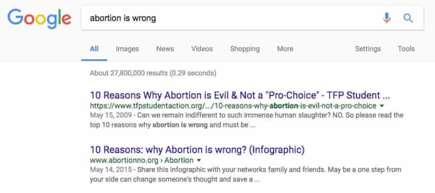 Google abortion