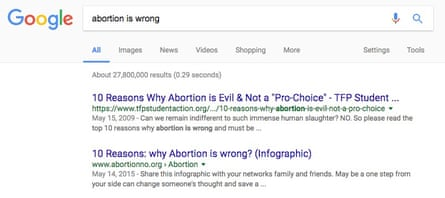 Google abortion