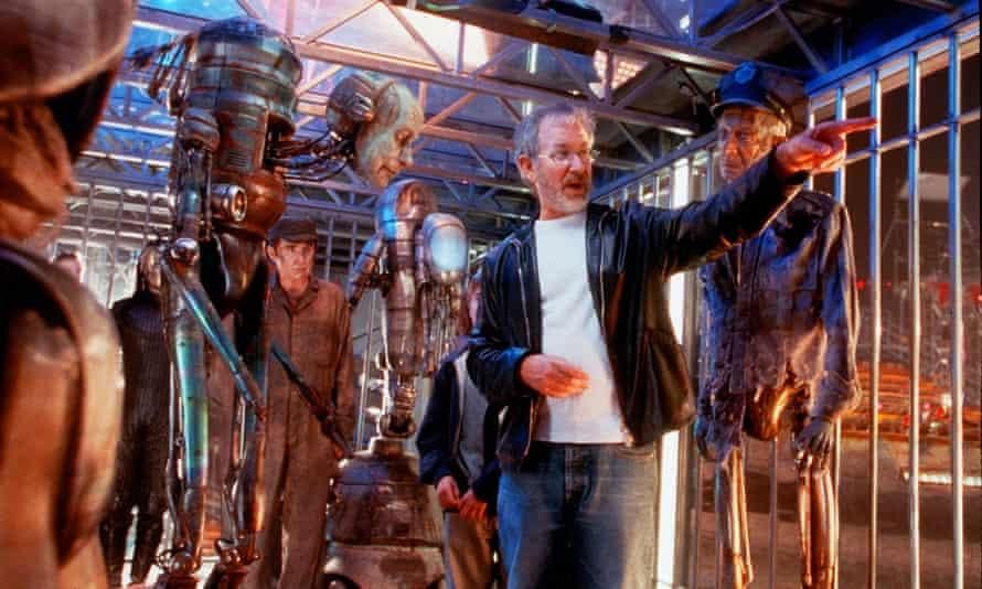 Steven Spielberg on set.