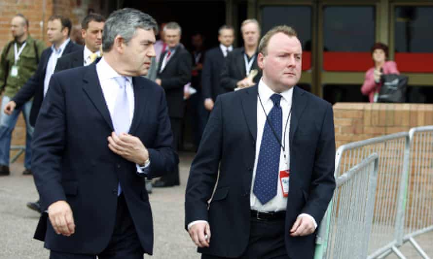 Damian McBride, seen here with the former prime minister, Gordon Brown, in 2007.