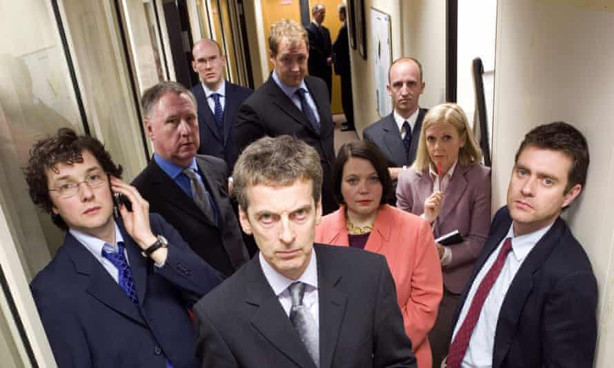 The Thick of It, starring Peter Capaldi, centre, as Malcolm Tucker … the essence of post truth.