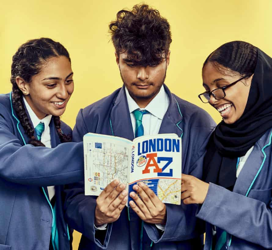 Iqra, Tanu and Najaat with an A-Z