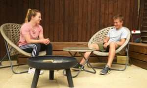 Hollie Doyle and Tom Marquand earlier this year at home during the coronavirus lockdown.