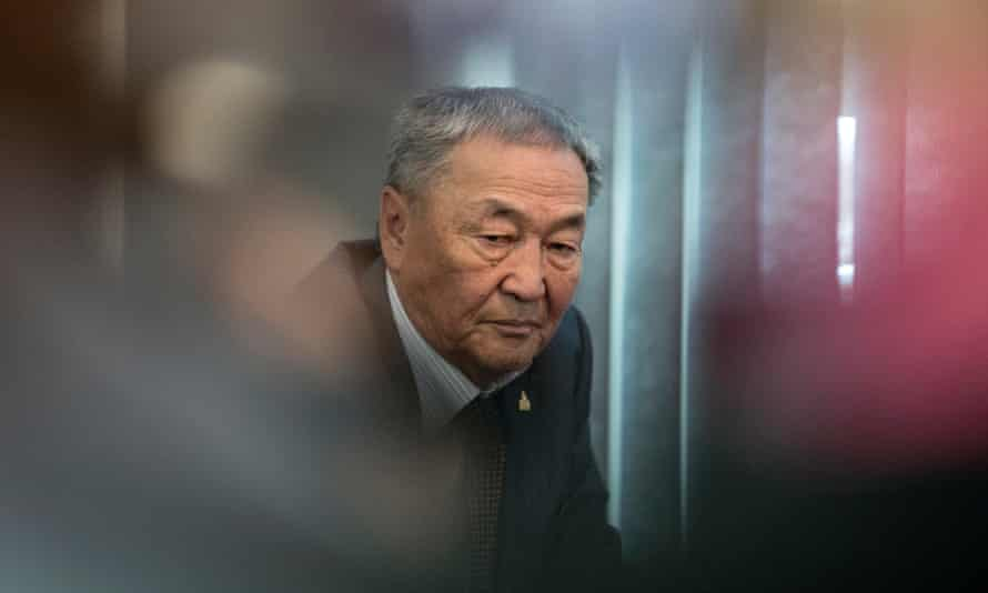Father of murdered Mongolian model Altantuya Shaariibuu during a press conference
