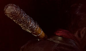 We all knew he was coming ... supervillain Negan and his baseball bat Lucille.