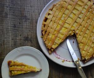 Rachel Roddy's cherry and ricotta tart.