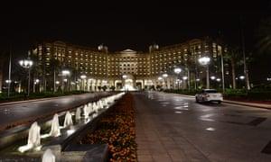 The Ritz-Carlton hotel in the Saudi capital Riyadh