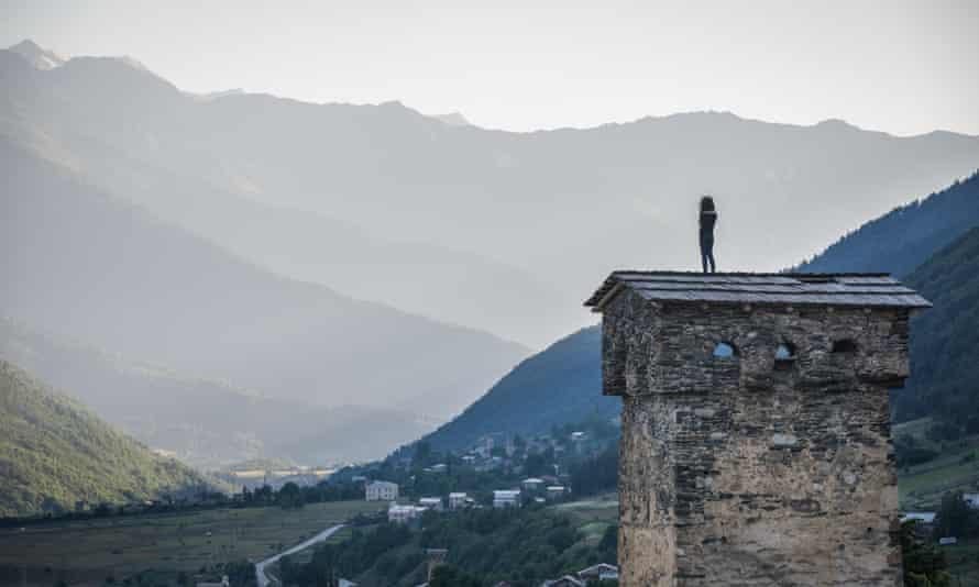 Svan tower in Mestia town.