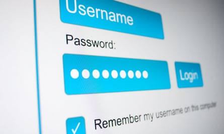 Username and Password in Internet Browser on Computer Screen