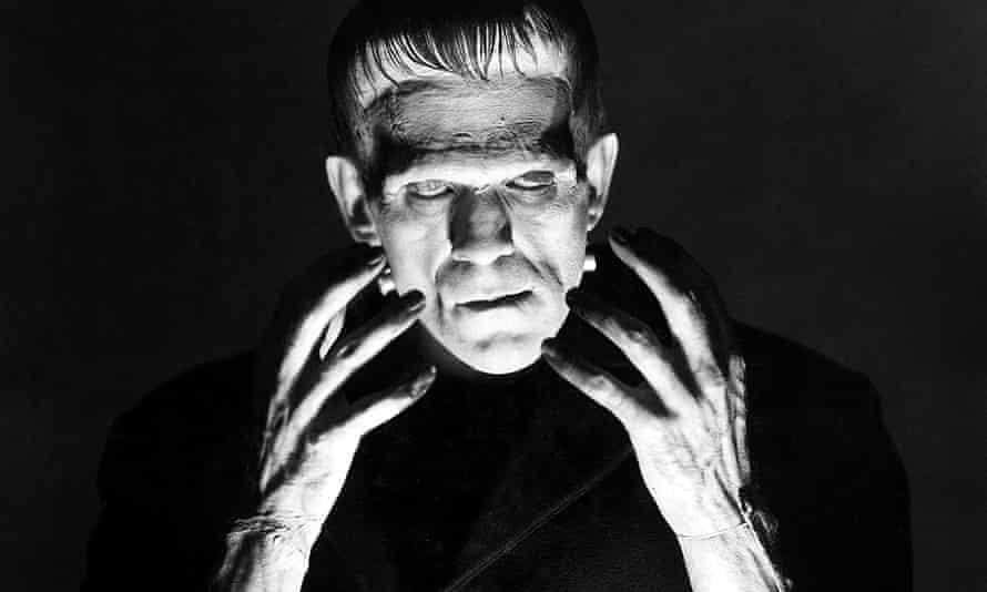 Boris Karloff as the monster in Frankenstein (1931).