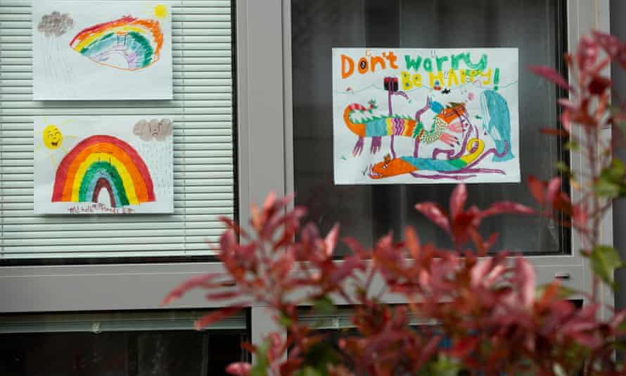 Pictures of rainbows have begun appearing in windows up and down the country as families and households work to stay positive during the lockdown.