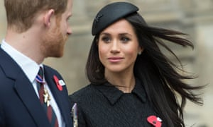 Prince Harry and Meghan Markle at Westminster Abbey in London on 25 April.