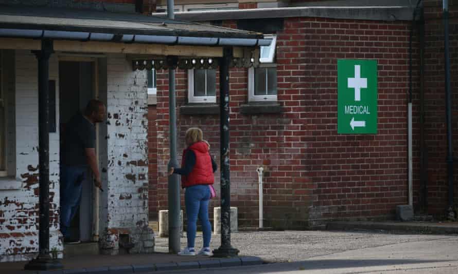 Napier barracks near Folkestone currently contains about 230 asylum seekers.