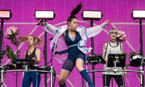 Charlie XCX performs on the Other Stage during day 2
