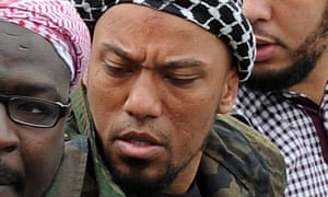 Denis Cuspert, who rapped under the name Deso Dogg, pictured in Bonn, Germany, before he travelled to Syria to join Isis.
