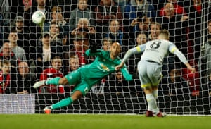 Derby County's Mason Mount scores in the shootout