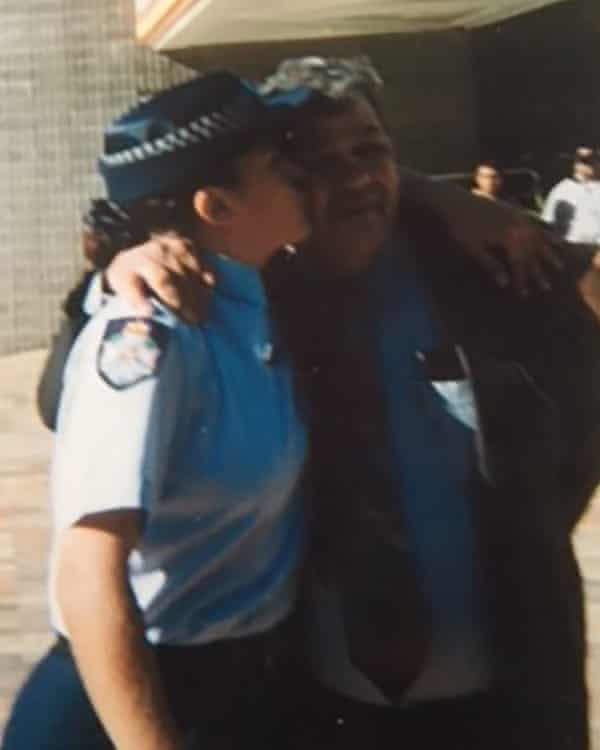 Veronica Gorrie as a police officer with her father